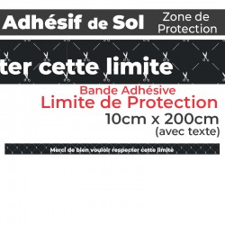 Adhésif de Sol - Limite de Protection