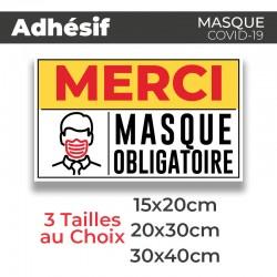 Adhesif- Covid-19_Masque Obligatoire
