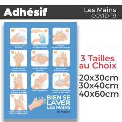 Adhesif- Covid-19_Bien se laver les mains