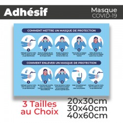 Adhesif- Covid-19_Masque de Protection