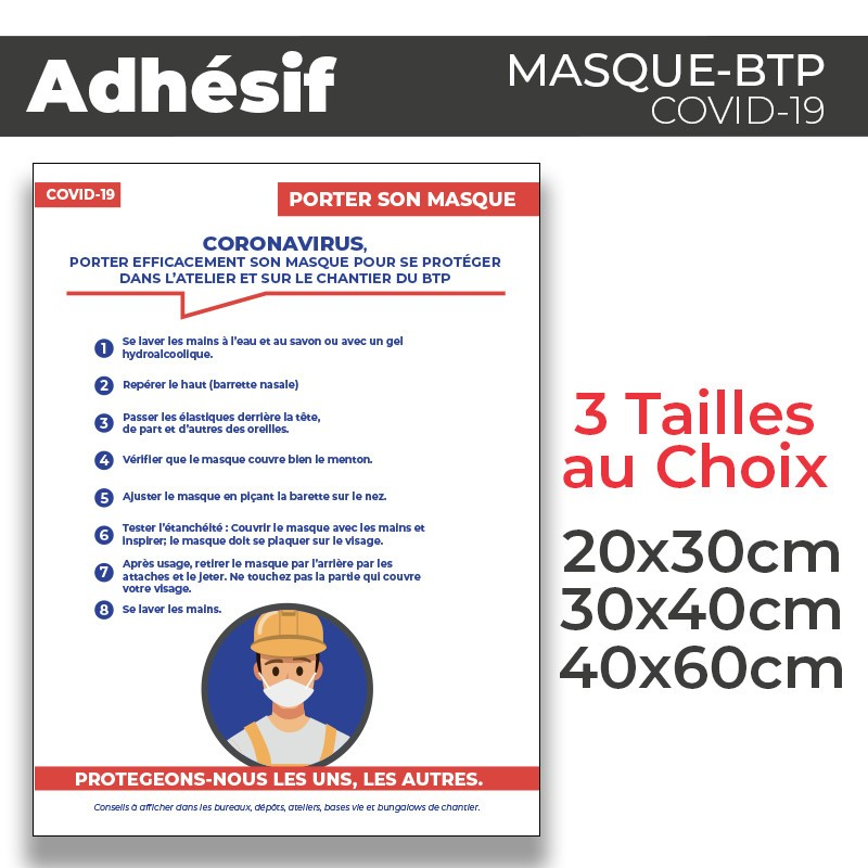 Adhesif- Covid-19_Masque de Protection-BTP