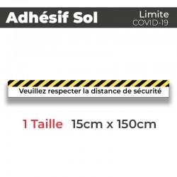 Adhesif de Sol - Covid-19_Limite de protection