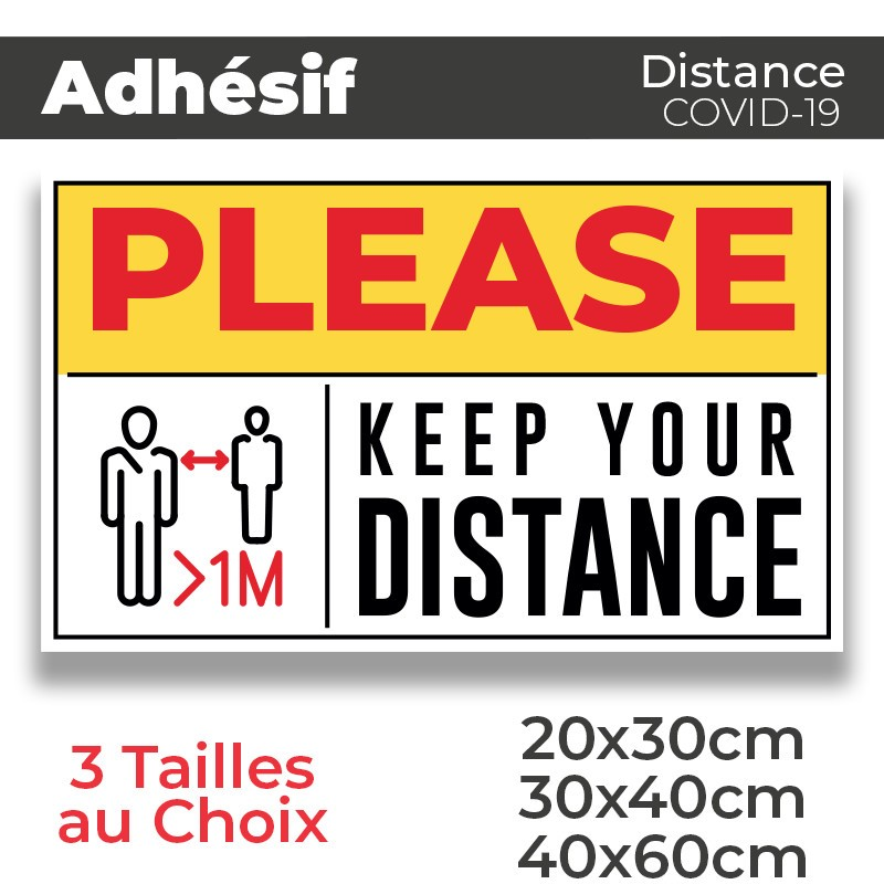 Adhesif- Covid-19_Keep your Distance