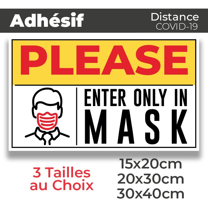 Adhesif- Covid-19_Enter only in Mask
