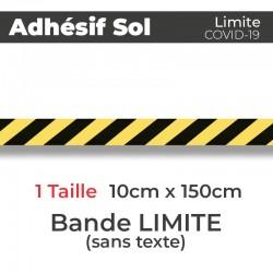 Adhesif de Sol - Covid-19_Bande de Limite de protection